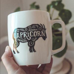 Capricorn star sign target mug